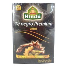 Té negro HINDÚ premium chai x32 g