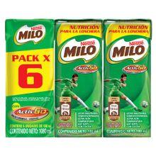 MILO líquido 6 unds x180 ml c/u