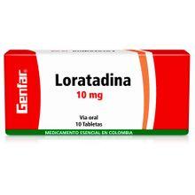 Loratadina GENFARA 10 mg x10 tabletas
