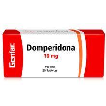 Domperidona GENFAR 10 mg x20 tabletas