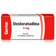Desloratadina GENFAR 5 mg x10 tabletas