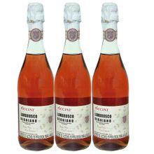 Vino PICCINI lambrusco regno rosado x750 ml 2x3