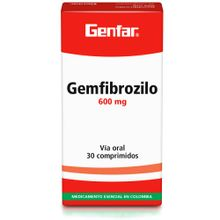 Gemfibrozilo GENFAR 600 mg x10 tabletas