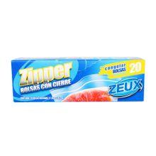 Bolsa ZEUX zipper congelación mediana x20 unds