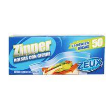 Bolsa ZEUX zipper congelación x50 unds