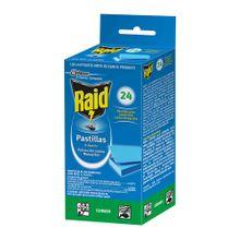 Insecticida RAID pastillas x24 unds