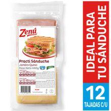 Practi sanduche ZENU jamón + queso doy pack x440 g