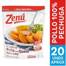 Nuggets de pollo ZENÚ con queso x340 g