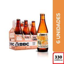 Cerveza BBC lager 6 unds x330 ml c/u