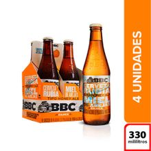 Cerveza BBC cajica miel 4 unds x330 ml c/u