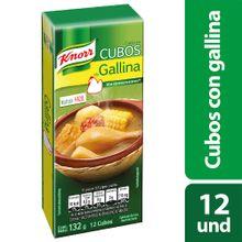 Caldo de gallina KNORR 12 cubos x132 g