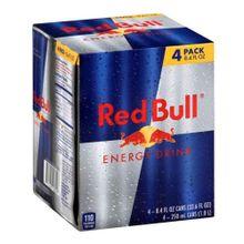 Bebida energizante RED BULL 4 unds x250 ml c/u