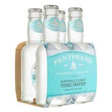 Agua FENTIMANS tónica light 4 unds x200 ml c/u