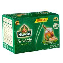 Té verde HINDÚ jengibre/miel x20 sobres