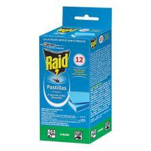 Repelente RAID contra mosquitos y zancudos x12 unds