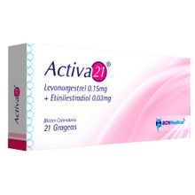 Activa 21-levonorgestrel 0.15mg/0.03mg blister x21 tabletas