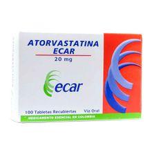 Atorvastatina ECAR 20mg x100 tabletas