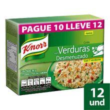 Caldo KNORR con verduras desmenuzado pague 10 lleve 12 sobres