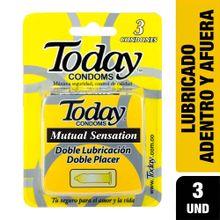 Preservativos TODAY mutual sensation x3 unds