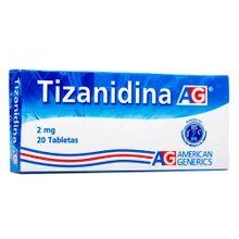 Tizanidina 2mg AG x20 tabletas