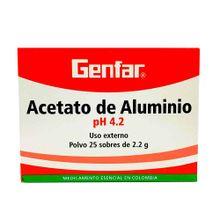 Acetato de aluminio GENFAR en sobre x25 unds