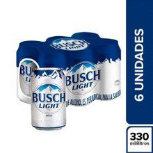 Cerveza BUSCH light 6 unds x330 ml c/u
