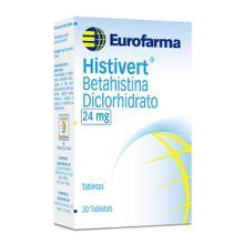 Histivert EUROFARMA 24mg x30 tabletas