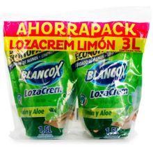 Oferta lavaplatos líquido BLANCOX lozacrem aloe 2 unds x1500 ml c/u
