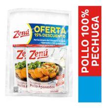 Nugguets ZENÚ apanado pollo 2 unds precio especial x340 g