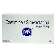 Ezetimibe-Simvastatina MK 10mg-20mg x14 tabletas