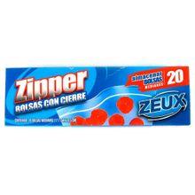 Bolsa ZEUX zipper x20 unds
