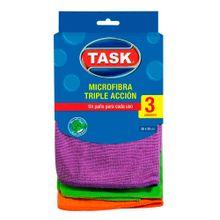 Paño TASK microfibra x3 unds