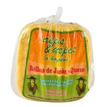 Arepa AREPAS & AREPAS rellena de jamon y queso 4 unds x 400 g