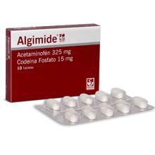 Algimide SIEGFRIED 325/15mg codeina fosfato x10 tabletas