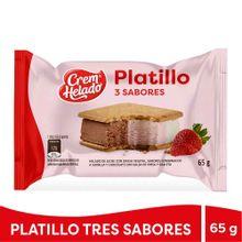 Sandwich CREM HELADO platillo 3 sabores x65 g
