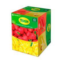 Paleta TOSH trozos de fruta surtida 6 unds x75 g c/u
