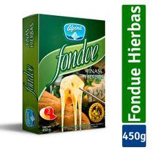 Queso ALPINA fondue finas hierbas x450 g