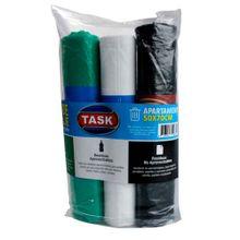 Pack completo reciclaje bolsa basura TASK 3 colores 50X70 30 unds