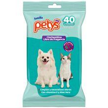 Pañitos húmedos PETYS clorhexidina x40 unds