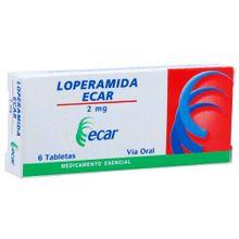 Loperamida ECAR 2mg x6 tabletas