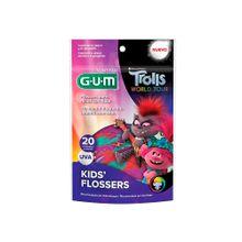 Flossers GUM trolls world tour x20 unds