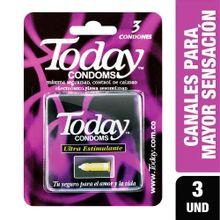 Preservativos TODAY ultra estimulante x3 unds
