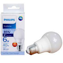 Bombillo PHILIPS eco home led bulb 6w