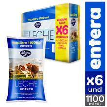 Leche ALPINA entera 6 unds x1100 ml