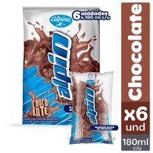 Leche saborizada ALPINA chocolate 6 unds x180 ml