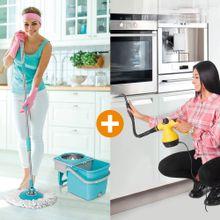 Combo: Limpiador a Vapor + Giratorio 360 Stainless mop Energy Plus - Envío gratis