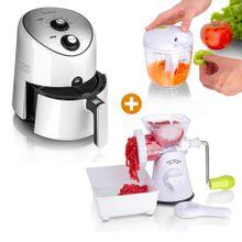 Combo: Freidora de aire 3.6 L + Molino +Maxi cortador halador Chef Master