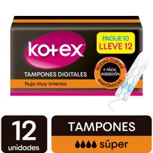Tampon KOTEX digital super x12 unds
