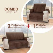 Combo: Protector sofá 1 Puesto +2 Cubre sofá 2 puestos Energy Plus - envío gratis