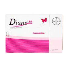 Diane 35 BAYER 2mg/0035mg x21 tabletas